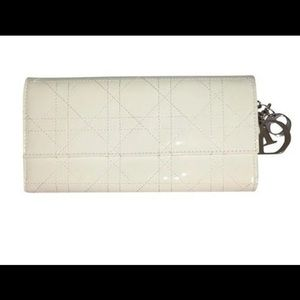 Authentic Dior White Cannage Lady Wallet